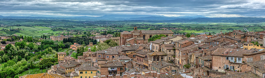 Hill Town Siena by David Letts