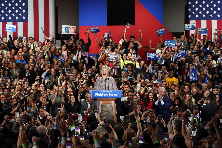 Hillary Clinton Holds New York Primary Photograph by Spencer Platt