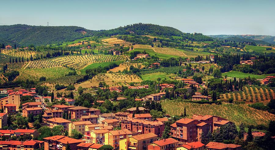 Hills Of Tuscany Near Town San Gimignano Photograph by Tjarko Evenboer / The Netherlands