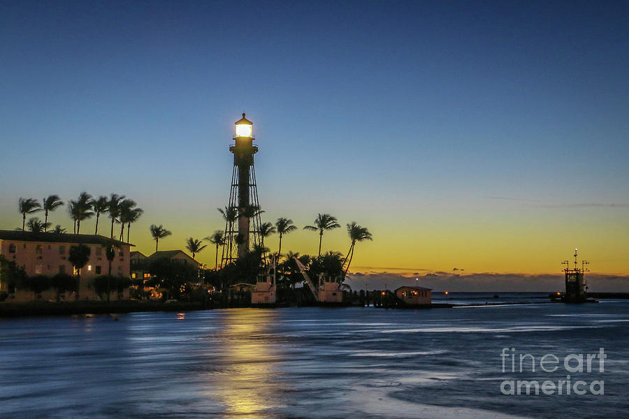 Hillsboro Light Reflection by Tom Claud