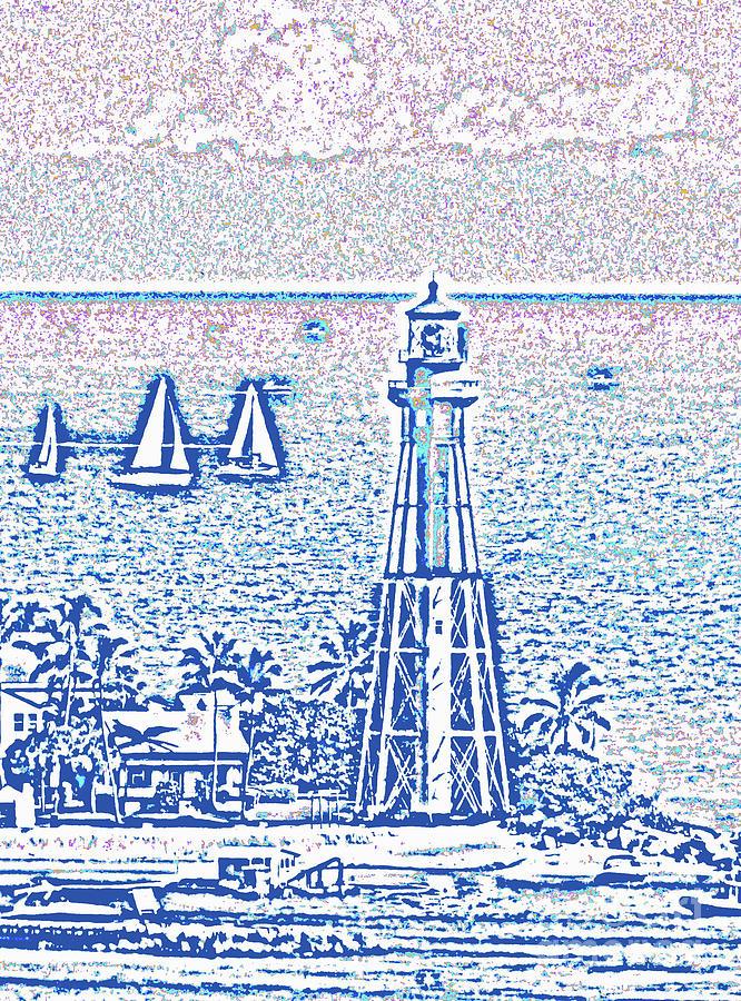 Hillsboro Lighthouse Line Photo 1001 by Corinne Carroll