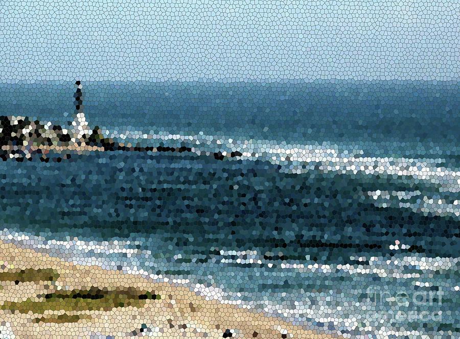 Hillsboro Lighthouse Mosaic 1005 by Corinne Carroll