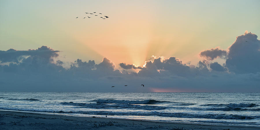 Hilton Head Sunrise Panorama Photograph