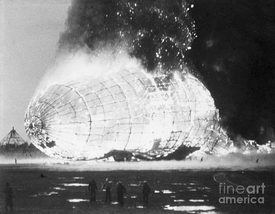 Hindenburg Disaster Photograph by Bettmann
