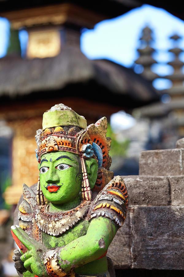 Hindu Stone Temple Idol, Kintamani, Bali Photograph by John W Banagan
