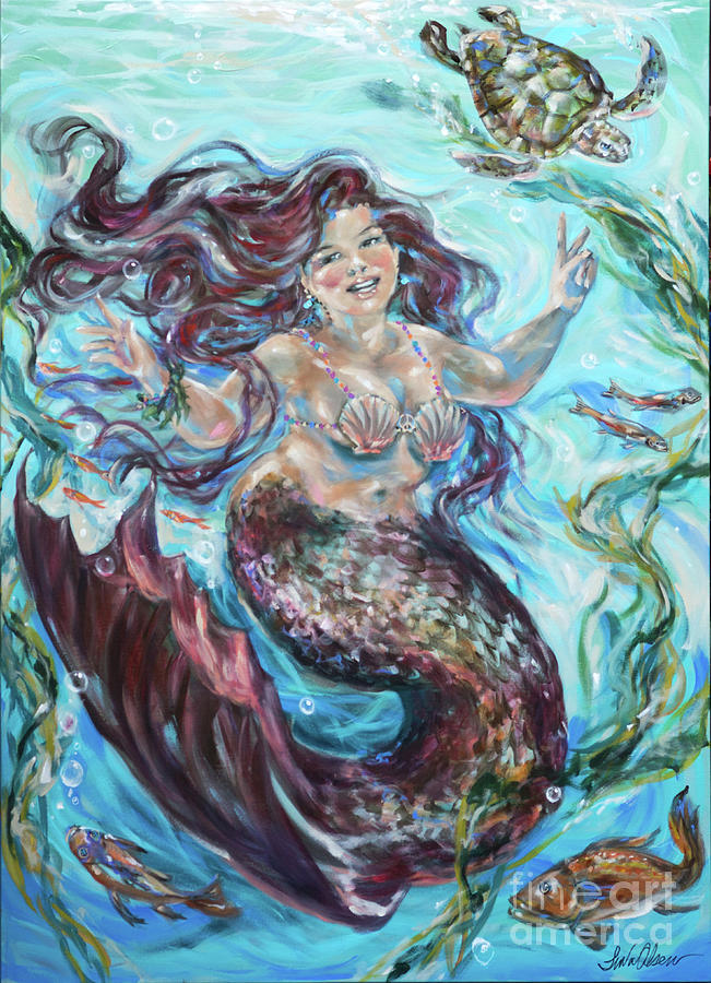 Hippie Mermaid by Linda Olsen