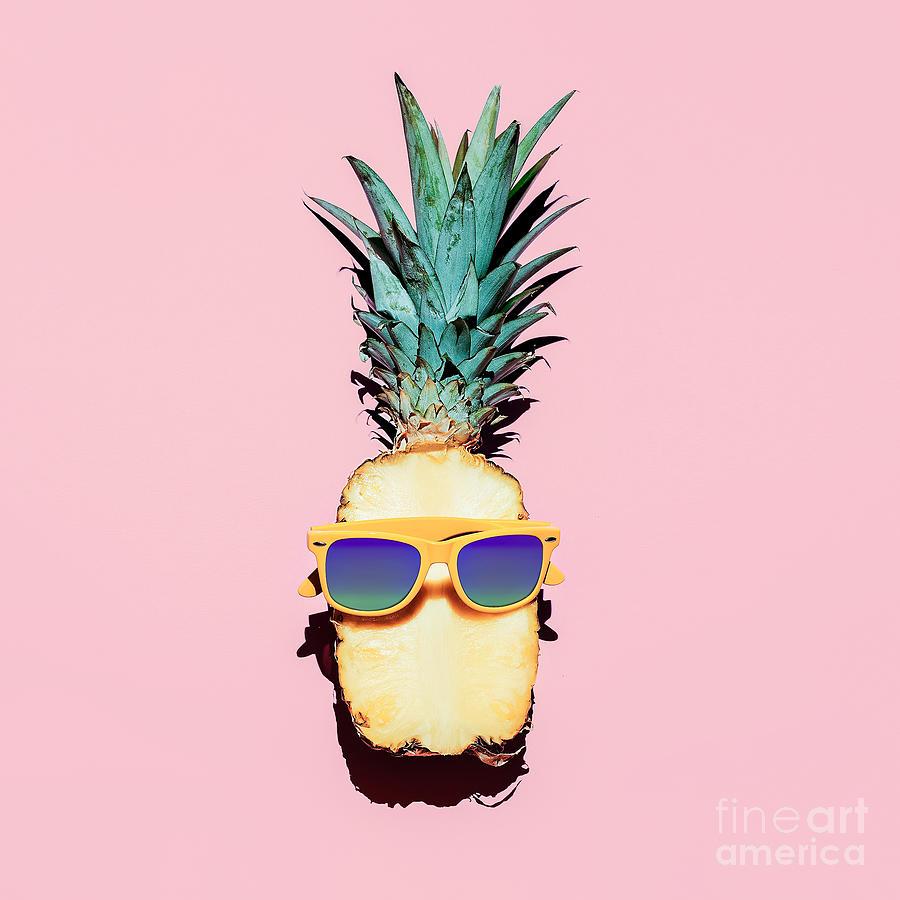 Fancy Photograph - Hipster Pineapple Fashion Accessories by Evgeniya Porechenskaya
