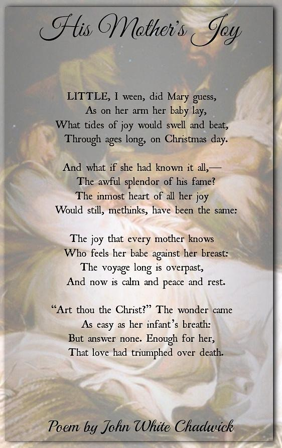 Christmas Poem Photograph - His Mothers Joy by David Norman