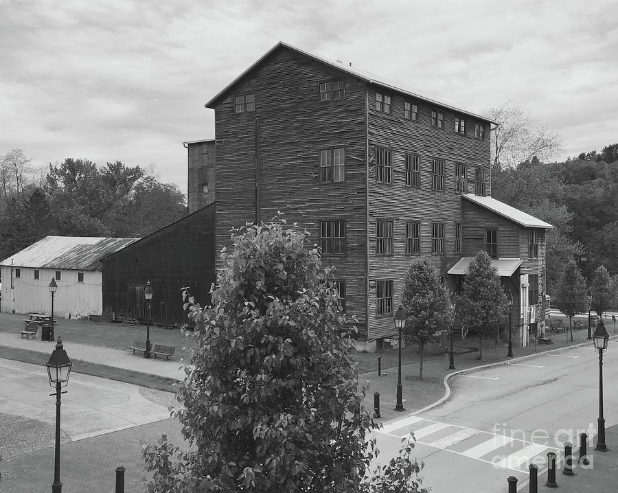 Feed Store Photograph - Historic Altman Mill In Black And White by Megan Cohen