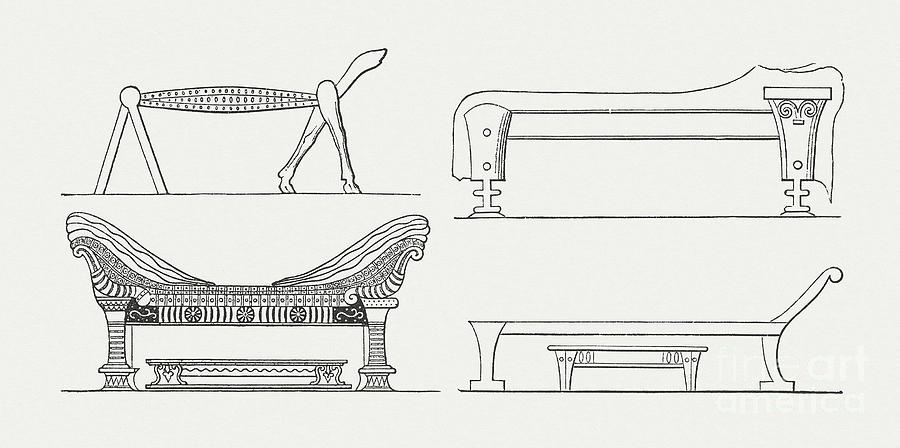 Historic Beds From Antiquity, Wood Digital Art by Zu 09