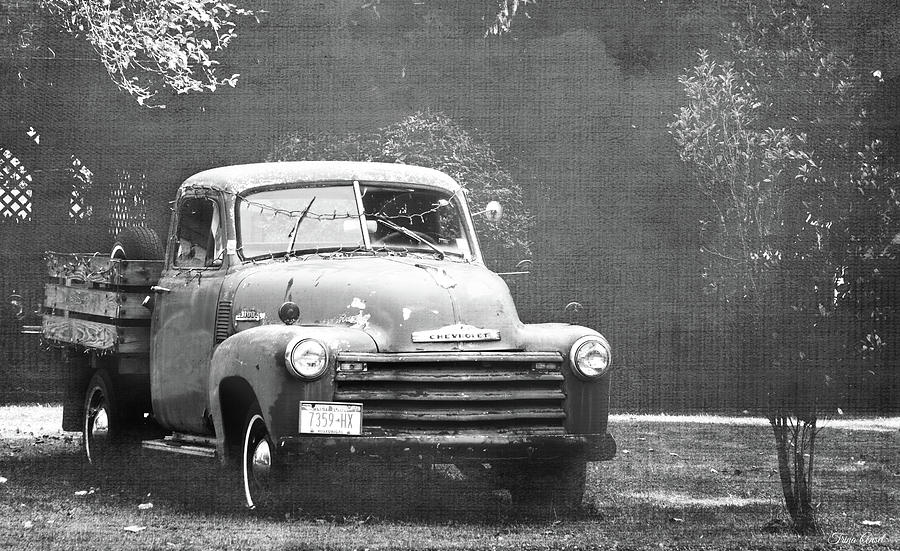 Historic Chevrolet in Black and White by Trina Ansel