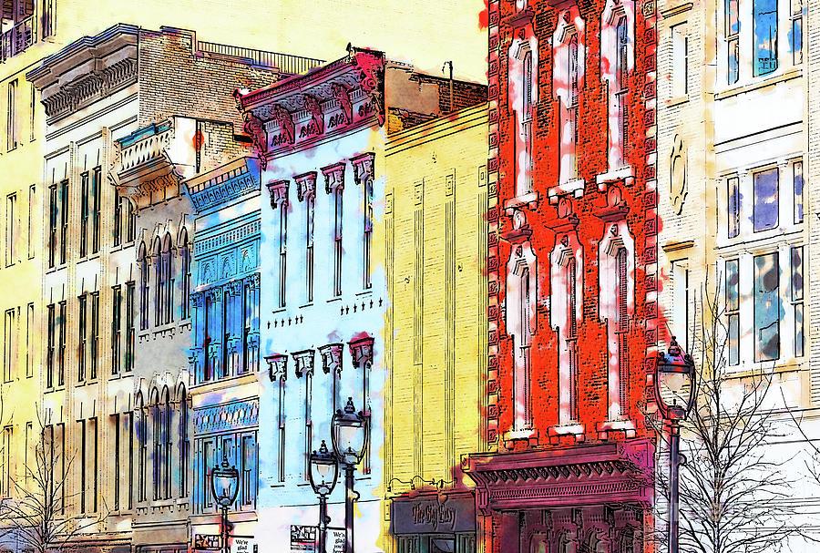 North Carolina Digital Art - Historic Downtown Raleigh North Carolina FX by Dan Carmichael