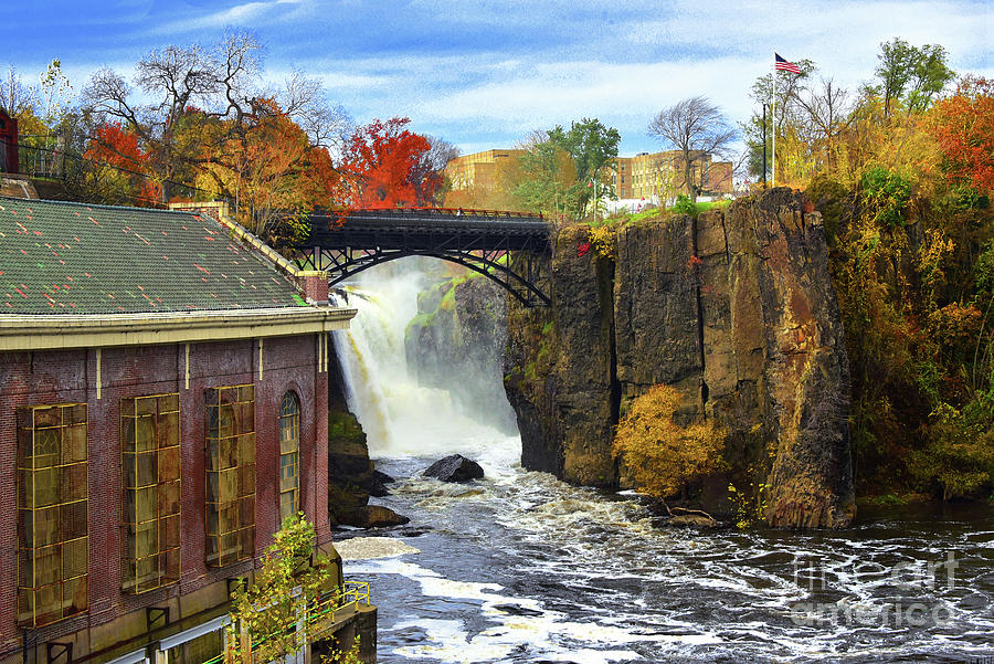 Paterson Falls Photograph - Historic Great Falls And Mill Autumn Landscape  by Regina Geoghan