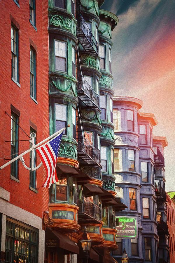Boston Photograph - Historic North End Boston Massachusetts by Carol Japp