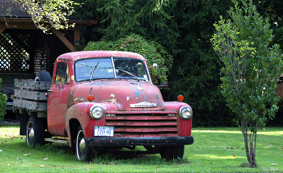 Historic Red Chevrolet Truck in New York by Trina Ansel