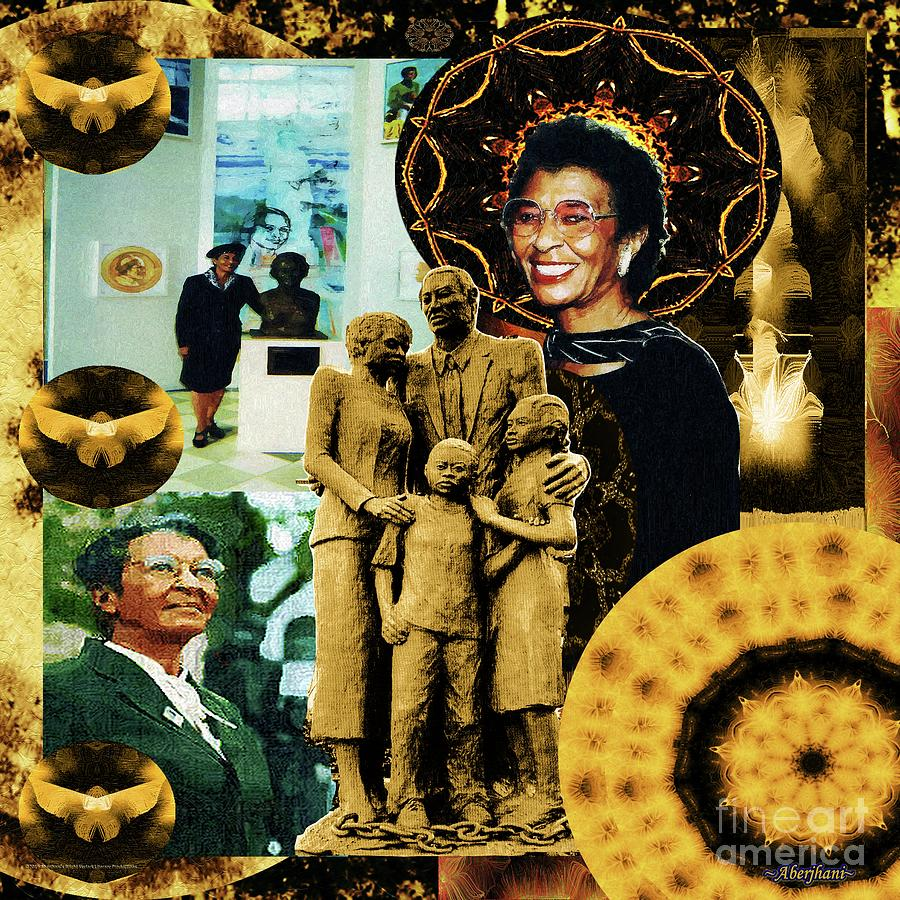 African Americans Mixed Media - Historic Triumph Of Dr. Abigail Jordan by Aberjhani