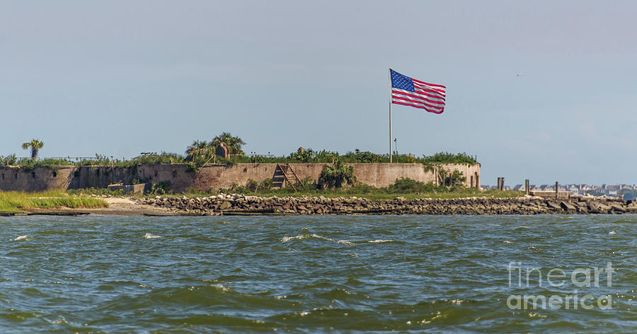 Historical American Civil War - Castle Pinckney Photograph