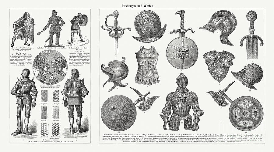 Historical Armor And Weapons Digital Art by Zu 09