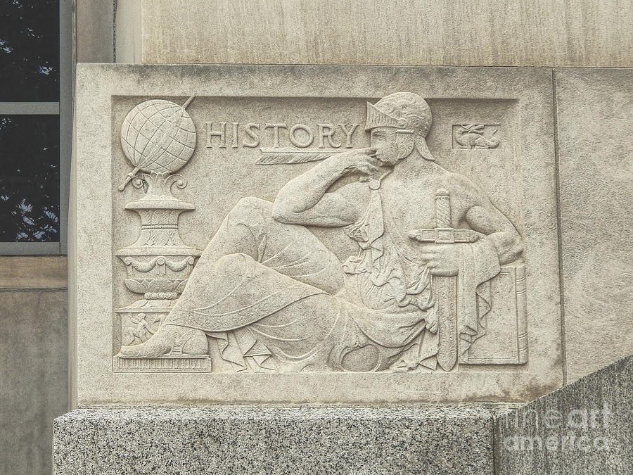 History Photograph - History Plaque by Phil Perkins