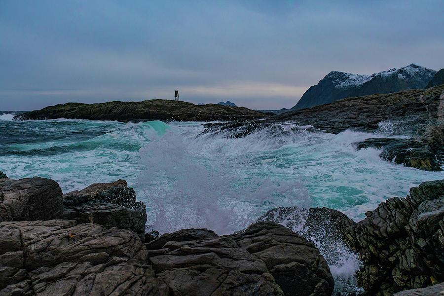 Sea Photograph - Hit The Rocks by Kai Mueller
