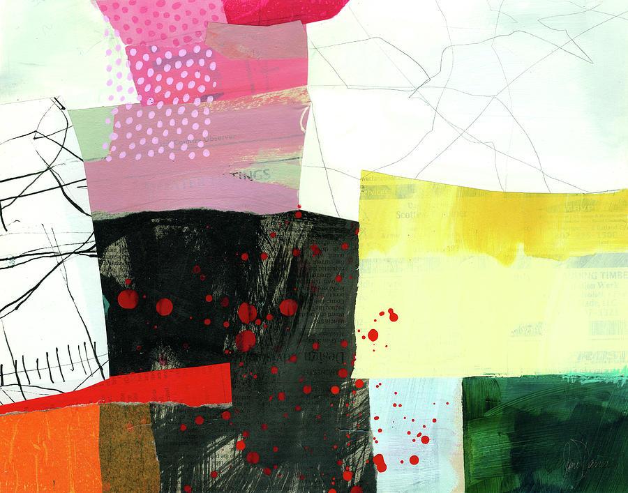 Pattern Painting - Hitting The Fan #9 by Jane Davies