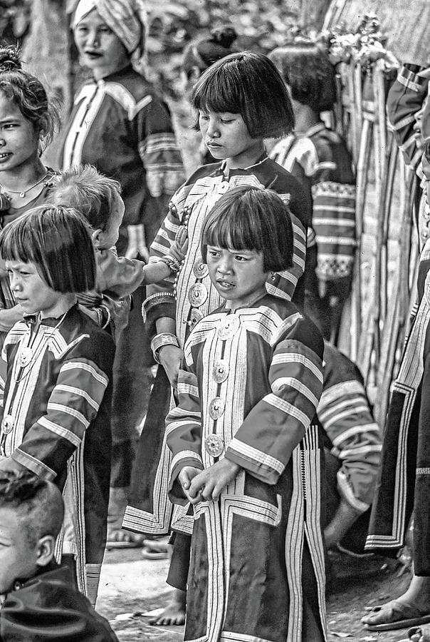 Hmong Girls Bw Photograph