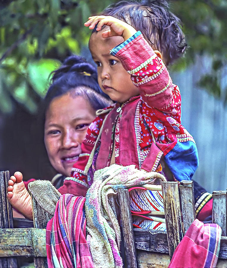 Hmong Mother And Child Photograph