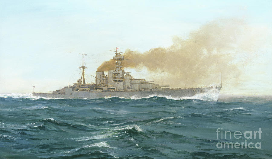 Ship Painting - Hms Hood, 1919  by Duff Tollemache