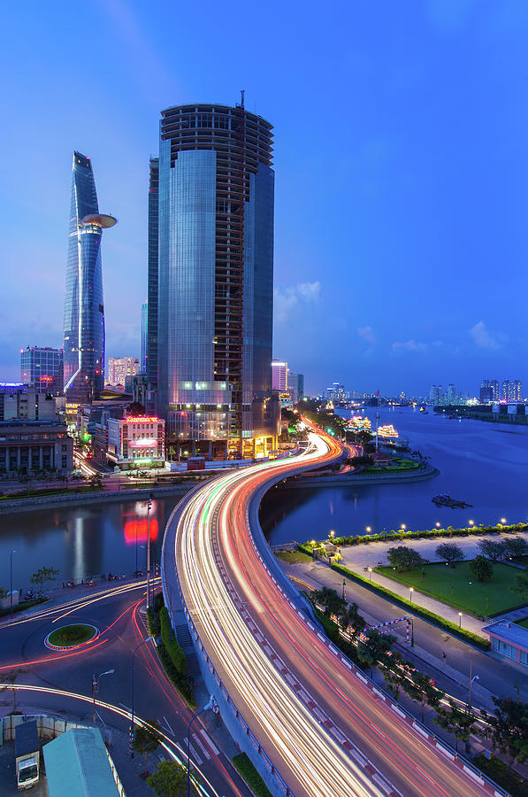 Ho Chi Minh City At Night Photograph by Jethuynh