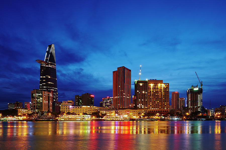 Ho Chi Minh City Skyline At Night Photograph by Ultra.f