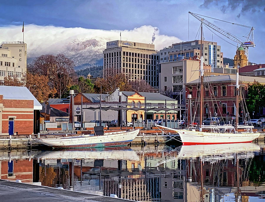 Hobart Constitution Dock in Winter by Tony Crehan