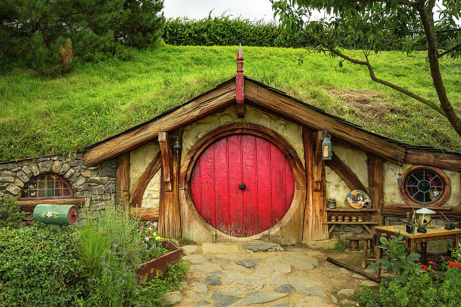 Hobbit House - Red Door by Racheal Christian