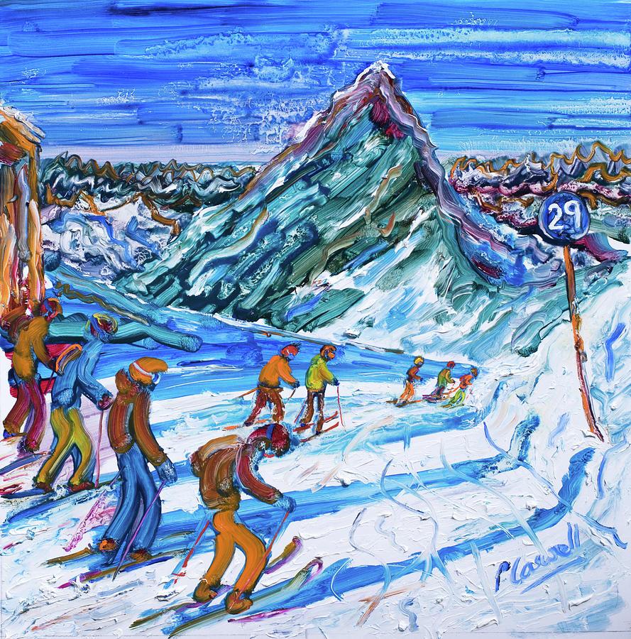 Hochgurgl Ski Print by Pete Caswell