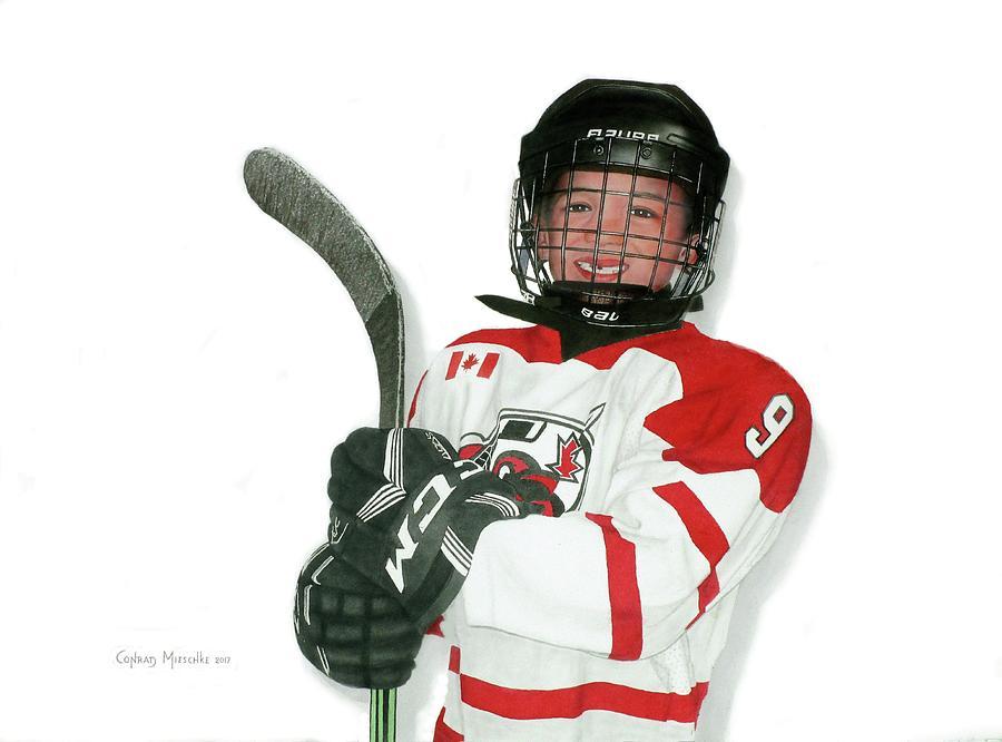 Hockey is my Game, Callum age 9 by Conrad Mieschke