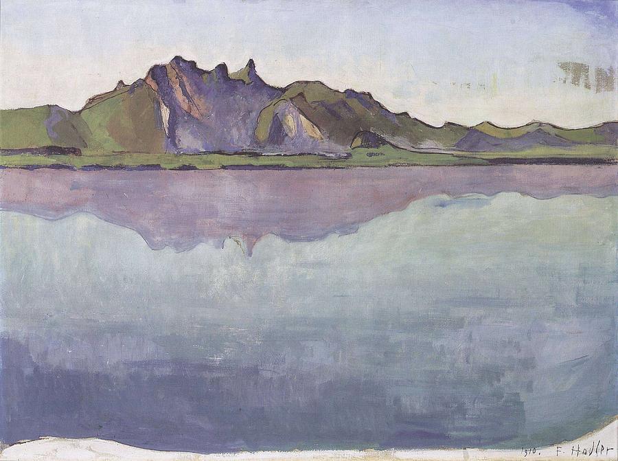 Hodler Thun Stockhornkette 1910 Painting