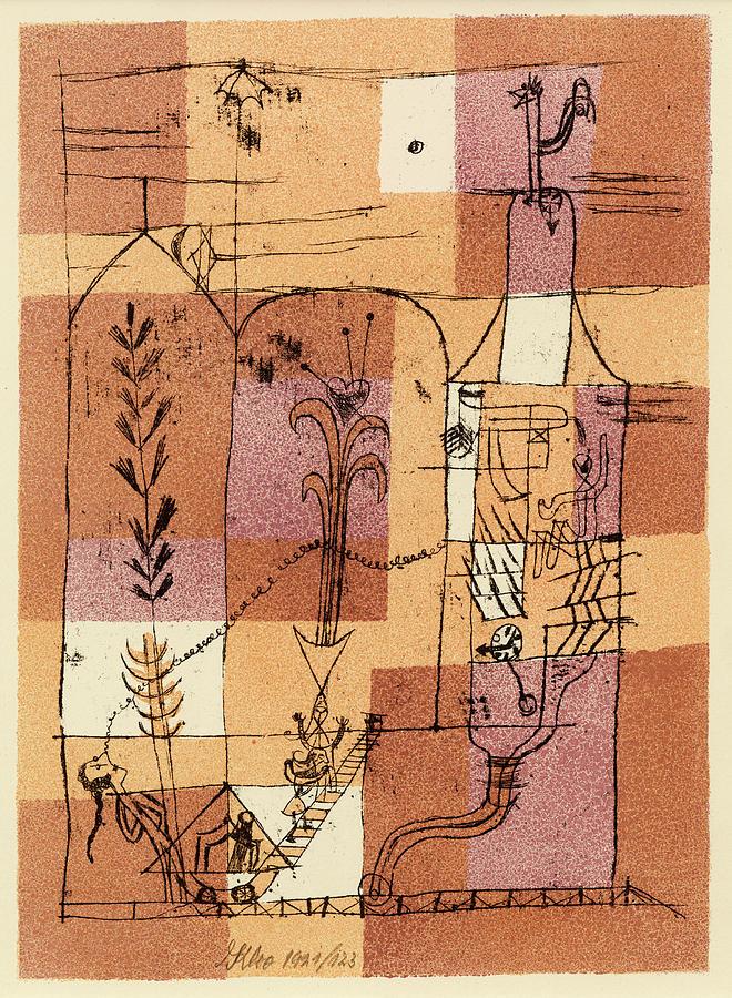 Paul Klee Painting - Hoffmanesque Scene by Paul Klee