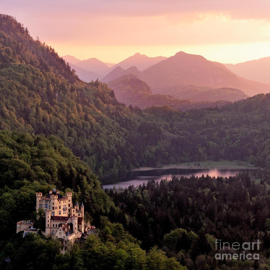 Forest Photograph - Hohenschwangau Castle Bavaria Germany by Francesco Carucci