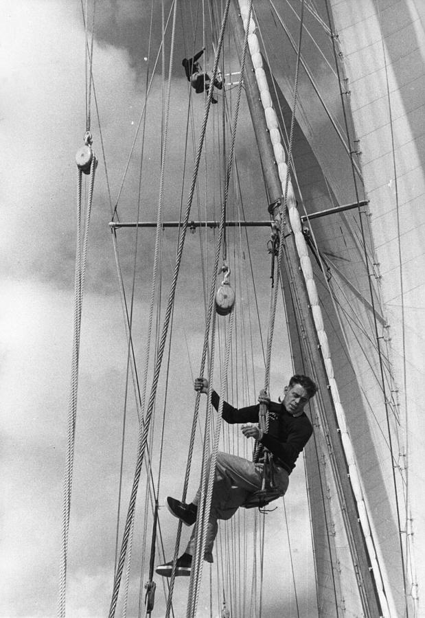 Hoisted Aloft Photograph by Bert Hardy
