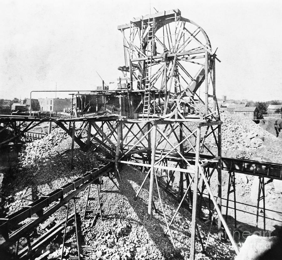 Hoisting Wheel Goldmining In California Photograph by Bettmann