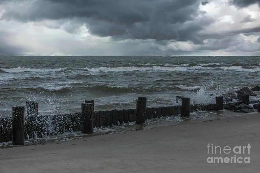 Hold Back The Storm Surge - Charleston Hurricanes Photograph