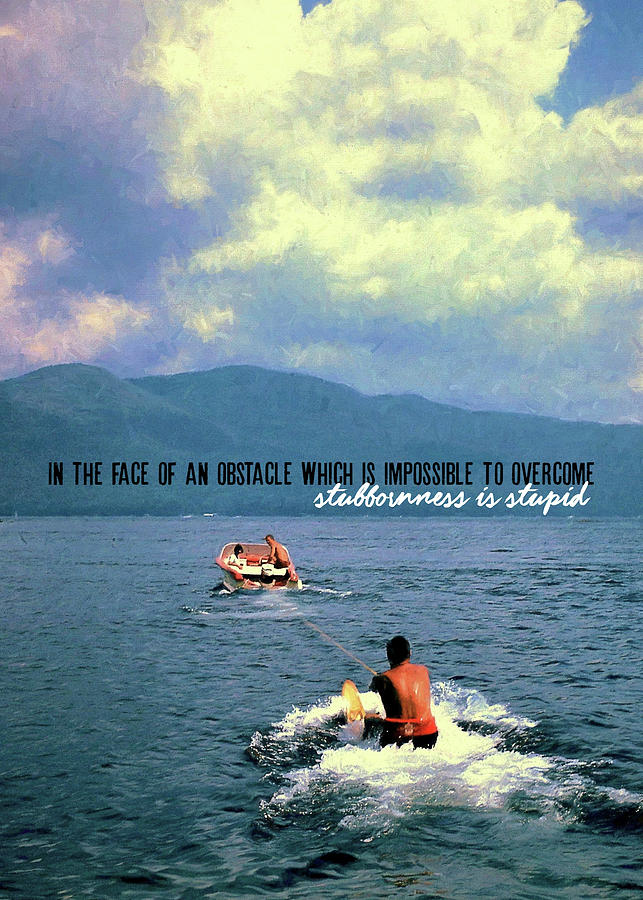 Water Photograph - Hold On Tight Quote by JAMART Photography