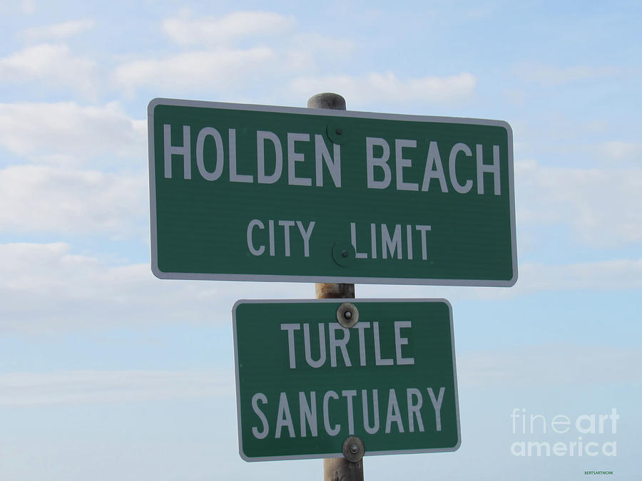 Holden Beach Town Limit Sign by Roberta Byram