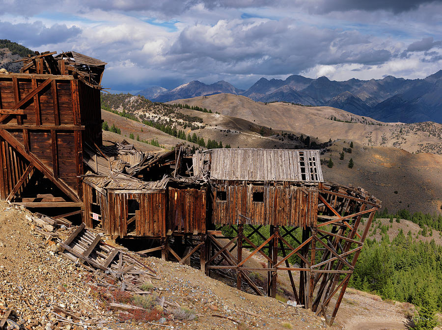 Idaho Photograph - Holding On by Leland D Howard