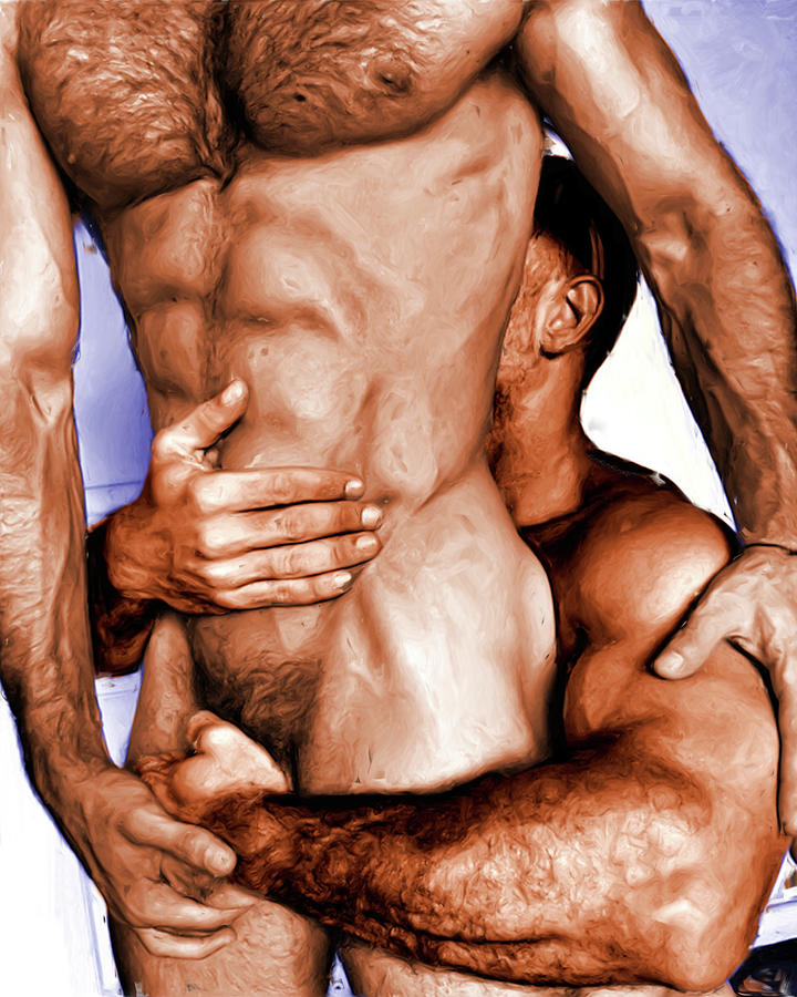 Holding Tight by Nude Male Art