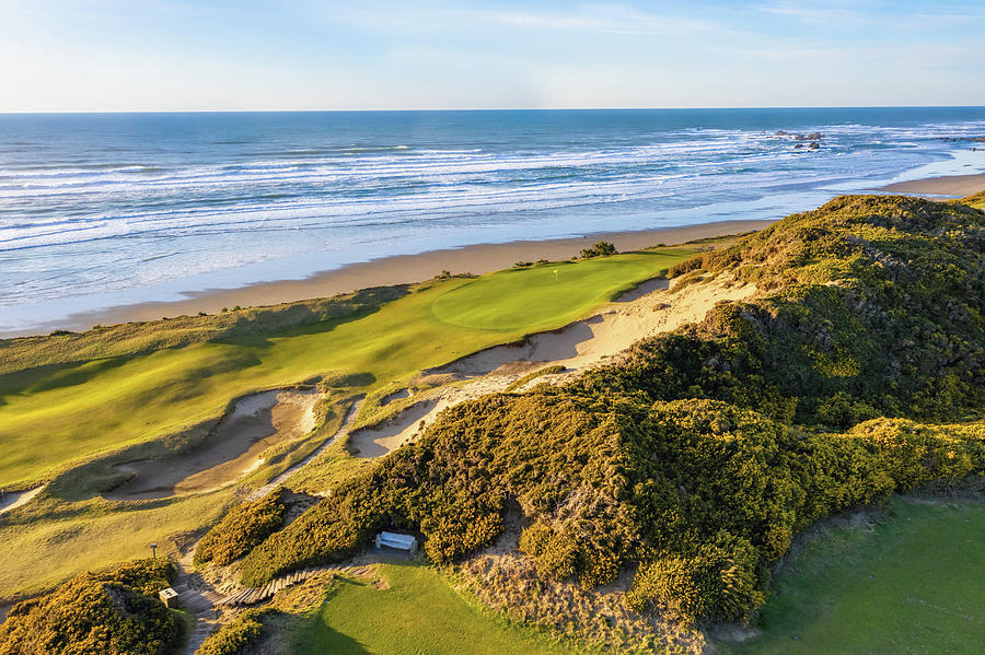Hole 13 Pacific Dunes Golf Course 2 by Mike Centioli