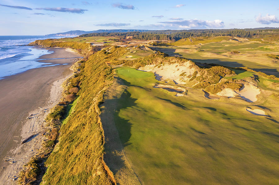 Hole 13 Pacific Dunes Golf Course 3 by Mike Centioli