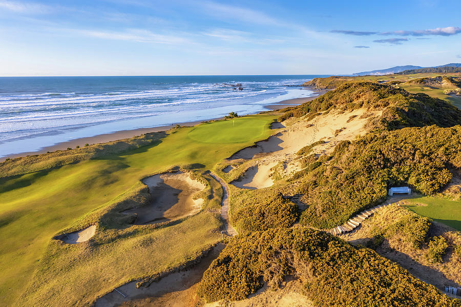 Hole 13 Pacific Dunes Golf Course by Mike Centioli