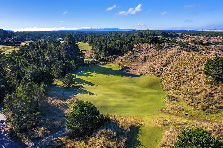Hole 2 at Bandon Trails Golf Course by Mike Centioli