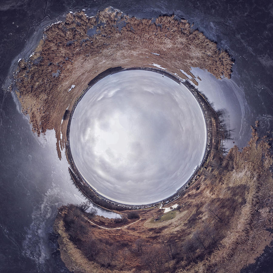 Drone Photograph - Hole by Giovanni Arroyo