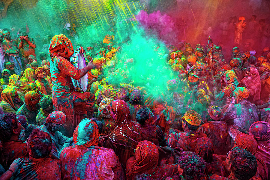 Holi Festival Celebrations In Mathura Photograph by Poras Chaudhary